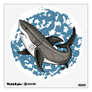 Jumping Great White Shark Wall Decal