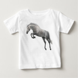 Jumping Grey Horse Infant T-Shirt