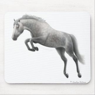 Jumping Grey Horse Mousepad