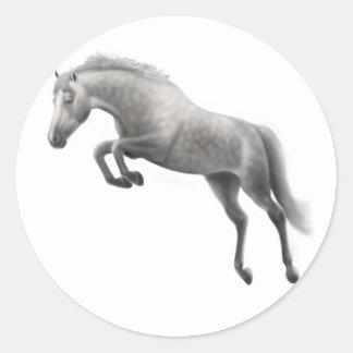 Jumping Grey Horse Sticker