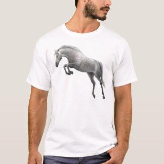 Jumping Grey Horse T-Shirt