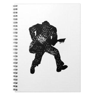 jumping guitar player motheaten look notebook
