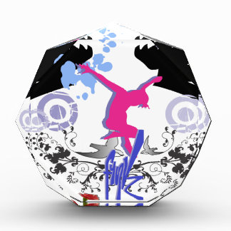 Jumping High with Joy! Acrylic Award