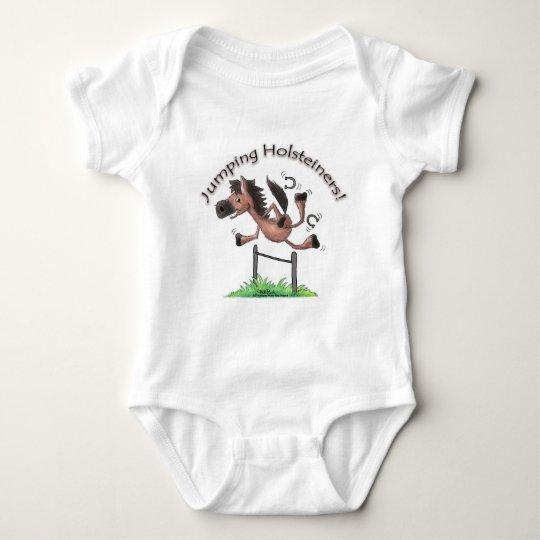 Jumping Holsteiners! Baby Bodysuit