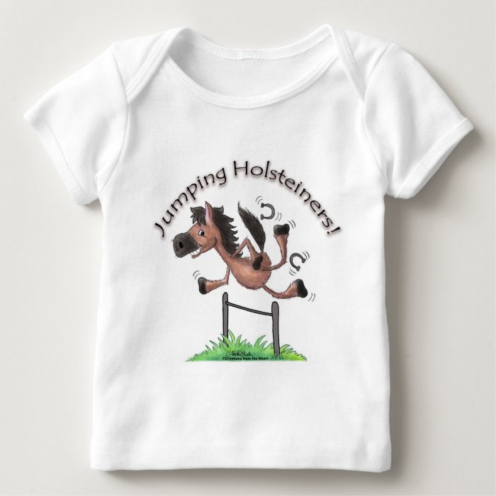 Jumping Holsteiners! Baby T-Shirt