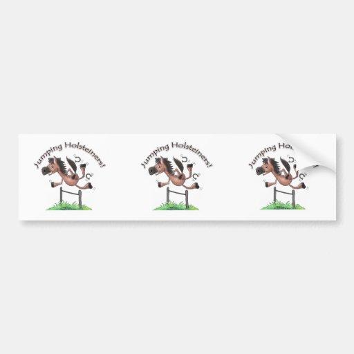 Jumping Holsteiners! Bumper Sticker