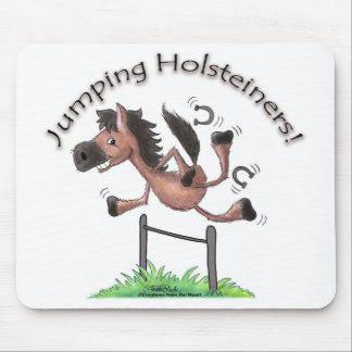 Jumping Holsteiners! Mouse Pad