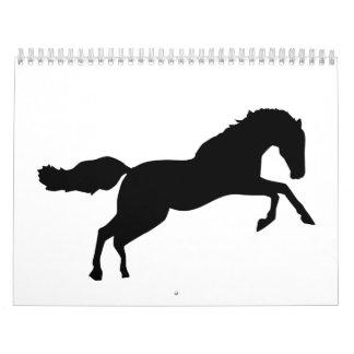 Jumping horse calendar