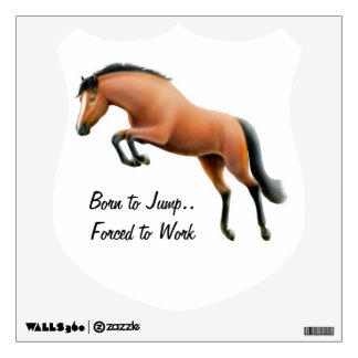 Jumping Horse Customizable Wall Decal