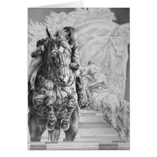 Jumping Horse Drawing by Kelli Swan Greeting Card