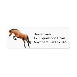 Jumping Horse Label