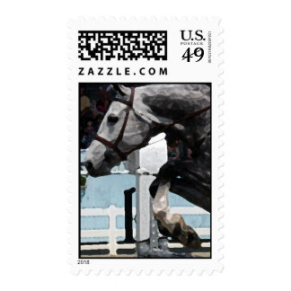 Jumping Horse Postage Stamps