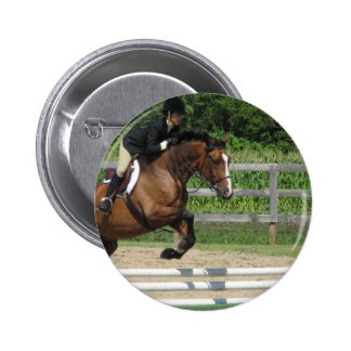 Jumping Horse Round Button