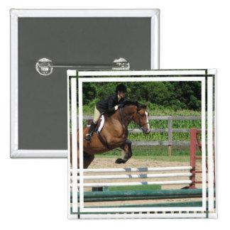 Jumping Horse Square Pin