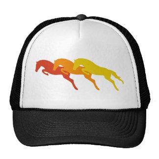 jumping horses gorros bordados