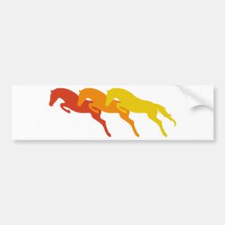 jumping horses pegatina para auto