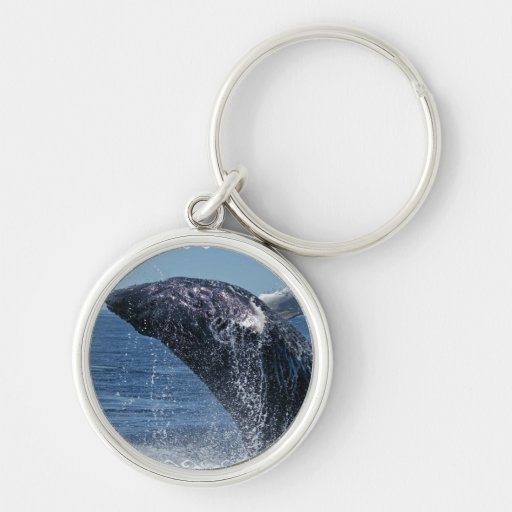 Jumping Humpback Whale Keychain