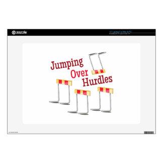 "Jumping Hurdles 15"" Laptop Decal"