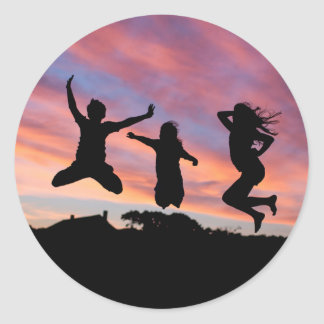 Jumping in the Sunset stickers