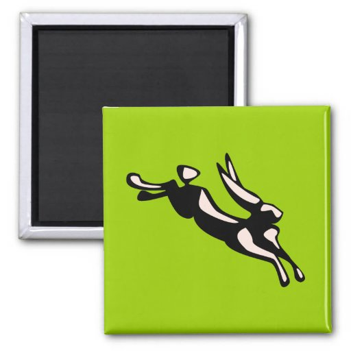 Jumping Jack Rabbit 2 Inch Square Magnet
