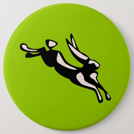 Jumping Jack Rabbit Pinback Button