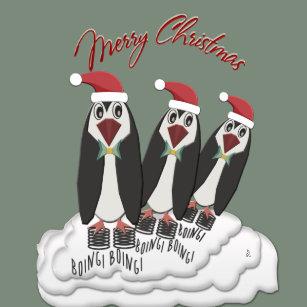 Jiminy Christmas.Funny Christmas Penguin Stickers Zazzle