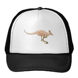 Jumping Kangaroo Trucker Hat