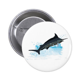 JUMPING MARLIN 2 INCH ROUND BUTTON