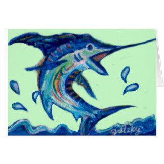 Jumping Marlin Card