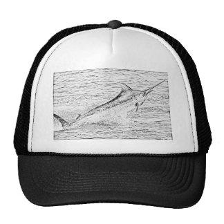 Jumping marlin mesh hat