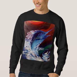 Jumping Marlin Mens Sweatshirt