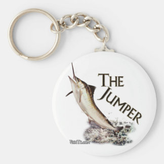 Jumping Marlin-Nice fisherman's catch Basic Round Button Keychain