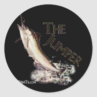 Jumping Marlin-Nice fisherman's catch Classic Round Sticker