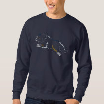 Jumping Merle Sheltie Embroidered Sweatshirt