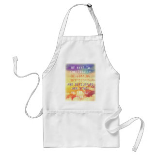 Jumping Off Cliffs Motivational Quote Adult Apron