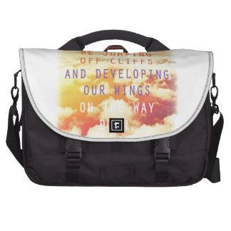 Jumping Off Cliffs - Motivational Quote Laptop Bag