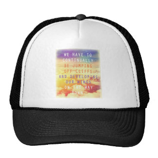 Jumping Off Cliffs Motivational Quote Mesh Hats