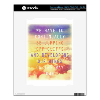 Jumping Off Cliffs - Motivational Quote NOOK Decal