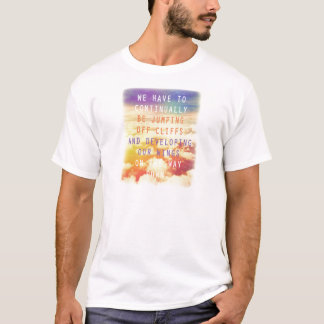 Jumping Off Cliffs Motivational Quote T-Shirt