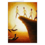 Jumping off the cliff greeting card