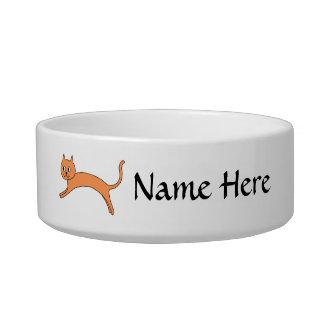 Jumping Orange Cat. Bowl