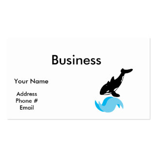 jumping orca business cards
