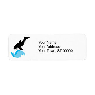 jumping orca label
