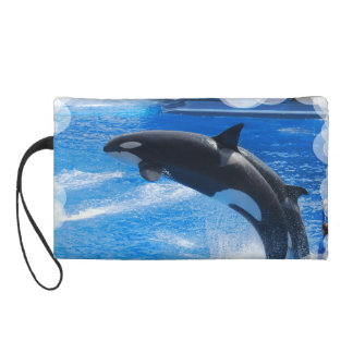Jumping Orca Whale Wristlet Purses