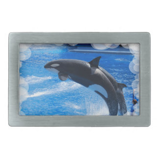 Jumping Orca Whale Belt Buckle
