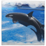 Jumping Orca Whale Napkins