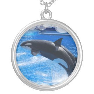 Jumping Orca Whale Custom Necklace