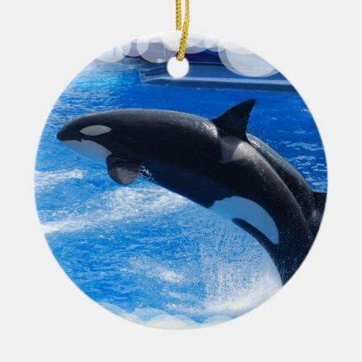 Jumping Orca Whale Ornaments
