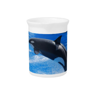Jumping Orca Whale Beverage Pitchers