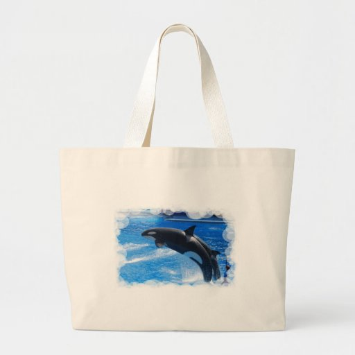 Jumping Orca Whale Tote Bag